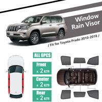 6Pcs Windows Sunshade UV Protection Mesh Block Visor Fit For Toyota Prado J150