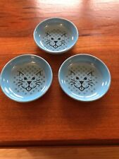 Van Ness Ecoware Non Skid Blue Cat Dishes