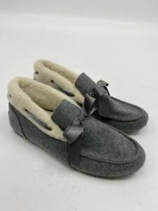 New Vionic womens Shirley charcoal moccasin slippers Sz 8.5 A-288