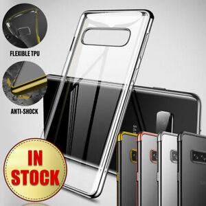 For Samsung Galaxy S10 S10e S10+ Plus S9 S8 Case Hybrid TPU Slim Rubber Clear