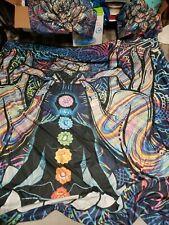 Lotus Bedding Set king Size Flower Bohemian Duvet Cover shakra Print Bed Set