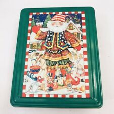 Mary Engelbreit Me Metal Tin Santa Kris Kringle Gingerbread Men Toy Christmas