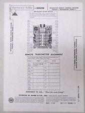 Sams Photofact Folder Parts Manual Magnavox Remote Control Receiver 704054-1 etc
