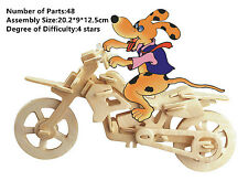 New Assembly DIY Education Toy 3D Wooden Model Puzzles Cross-country Moto