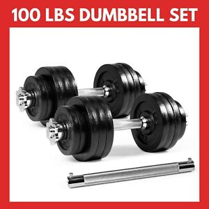 Yes4All 100 lb Adjustable Dumbbell Weight Set & Connector *FREE PRIORITY SHIP*