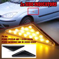 Dynamic LED Side Marker Light Indicators Repeater For Ford Focus Mk1