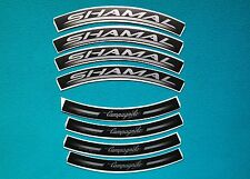 "CAMPAGNOLO SHAMAL ""ROAD"" FOR BLACK RIMS  REPLACEMENT RIM DECAL SET  FOR 2 RIMS"