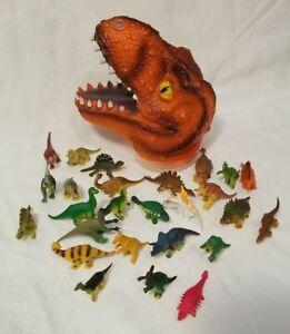 27 Piece Jurassic Dinosaur Set T-Rex Head Storage Case Toy Figures Kids Playset