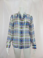 Equipment Femme   Silk Plaid Button Front Blouse Size Extra Small