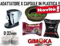 90 CAPSULE PLASTICA GIMOKA COMPATIBILI TAZZISSIMA TRIO BIALETTI + ADATTATORE