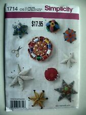Simplicity Pattern 1714 Vintage Style Pin Cushions sewing room accessories