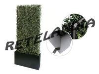 Fioriera separe' giardino divisorio paravento con siepe artificiale autoportante