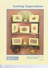 Lasting Impressions Cross Stitch Chart Pattern 9 Designs Country Cross Stitch