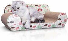 Nobleza Tiragraffi Divanetto in Cartone con erba gatta anche per il riposo gatto