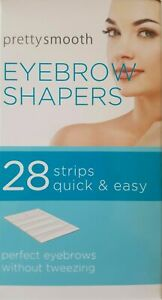 PRETTY, 28 WAX STRIPS SMOOTH EYEBROW SHAPERS  UNWANTED HAIR REMOVER EASILY