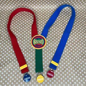 Vintage Oshkosh B'gosh Toddler Suspenders Colorful Red Blue Yellow Green Clown