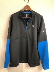 Los Angeles Chargers authentic Nike Dri-Fit 1/4-zip pullover jacket (size: L)