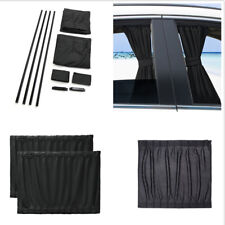 S Size Car 100% Cotton Black Sun Window Curtain  Sticked Directly On The Glass