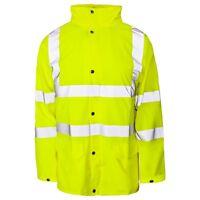 Supertouch Storm Flex Yellow Hi High Vis Viz Visibility PU Waterproof Jacket