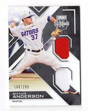 SHAUN ANDERSON MLB 2016 ELITE EXTRA EDITION DUAL MATERIALS #/299 (BOSTON RED SOX