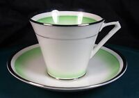 Bell China (Shore & Coggins) Art Deco Cups & Saucers Pattern No.3541 Circa 1930+
