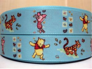 "Grosgrain Winnie the Pooh Tigger Piglet Cartoon Disney Ribbon 7/8"" 22mm"