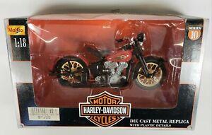 Harley Davidson Maisto Series 10 1948 FL Panhead Motorcycle 1/18 Diecast NIB