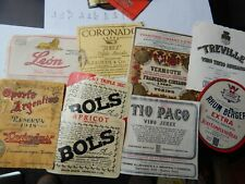 Lot of vintage Wine etc bottle Labels