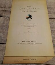 VINTAGE The Art Lover's Calendar 1845 Marine Painting Reproduction Philadelphia