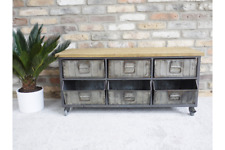 Metal Industrial Retro Style Cabinet Cupboard Sideboard TV Unit Display Cabinet