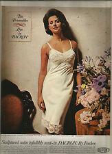 60's Fischer Lingerie Ad - Dupont 1965