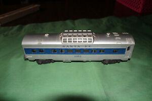Lionel #2112 Santa Fe Blue Stripe Passenger Car - O-27/ Gauge