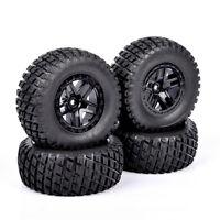 4Pcs RC HPI 1:10 12mm Hex Rubber Tires&Wheels For TRAXXAS Slash Car Truck Model