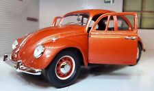 VW 1500 Beetle 1967 Car Metallic Copper 1:24 Scale Diecast Detailed Model 110364