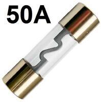 1 Stück 50A 50 A AGU Sicherung Glas Glassicherung Gold