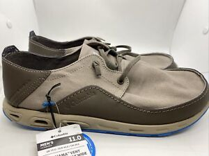 Columbia Bahama Vent Men's PFG Boat Shoes BI4676-006 Khaki/Blue Sz 11