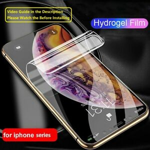 Hydrogel Film Screen Protector For iPhone 13 12 11 Mini Pro Max Xr Xs X SE2 TPU