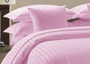 Pink Striped Deep Pocket Bed Sheet Set 1000 Count 100% Egyptian Cotton Sheet