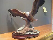 "Home Interior Figurines Homco Masterpiece Eagle ""Mountain Monarch"" 2001 w/ stand"