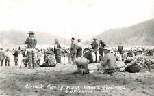 RPPC,Klamath River Mouth,Oregon,Chinook Fishing,Art-Ray PHoto,c.1945-50s