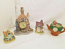 Porcelain Cottages, Houses Teapot Displays, Some w/ Clocks Decor