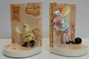 UAC Geoffrey Pink Panther & Inspector Clouseau Bookends - Collectable Ceramics