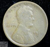 1911 D Lincoln Wheat Cent, Good Condition, Free Shipping, United States, C3775