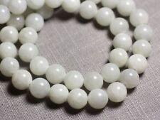 10pc - Perles de Pierre - Jade Boules 10mm Blanc Gris clair - 4558550093134