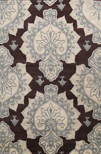 Geometric Modern Oriental Area Rug Hand-Tufted Wool Living Room NEW Carpet 8x11