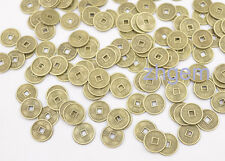 100 PCS Mini 10 mm Feng Shui Lucky Coins Copper Alloy Replica Chinese Qing