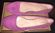 NIB Lands' End Vanessa Whipstitch Flat Wild Orchid Suede Shoes US 7.5