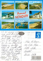 1990's MULTI VIEWS OF NEWQUAY CORNWALL COLOUR POSTCARD