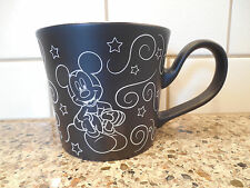 Disney Store Large Mug Cup Black White Cartoon Mickey Mouse Chalkboard Design