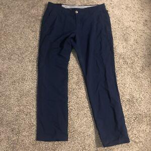 Under Armour Men's Size 40/34 UA Match Play Flat Front Golf Pants 1342263 408